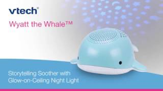 Wyatt the Whale® Storytelling Soother with Glow-on-Ceiling Night Light BC8312