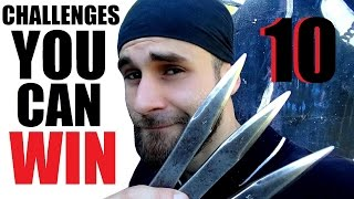 10 EASY Knife Throwing Challenges With World Champion (WIN Custom Knife)