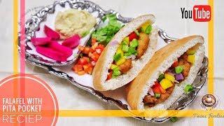 Lebanese Falafel stuffed in Pita Bread //Mediterranean food-- Falafel Recipe // BY PREETI SEHDEV