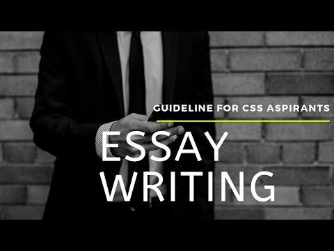 Essay Writing Guidelines for CSS aspirants Part-1 I Dr. Munawar Sabir I Muhammad Rashid