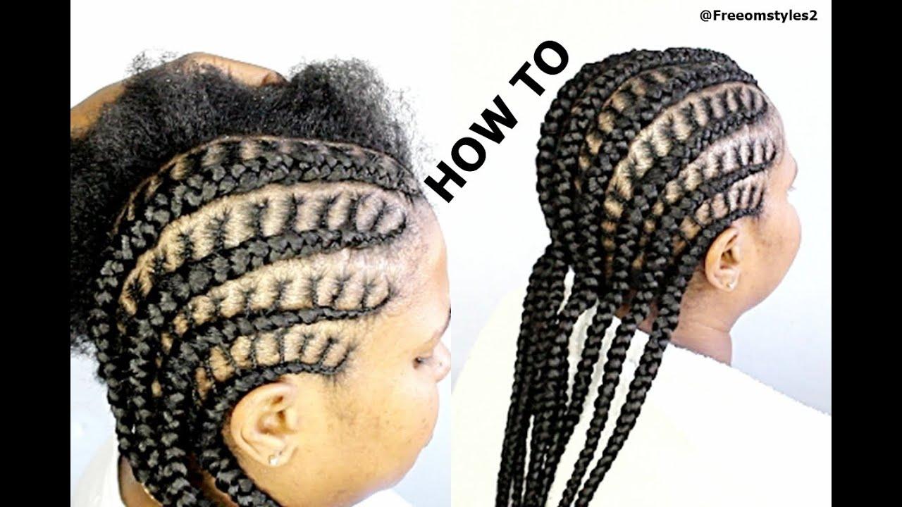 Corn Roll Hair Styles: HOW TO DO SIMPLE CORNROW BRAIDS