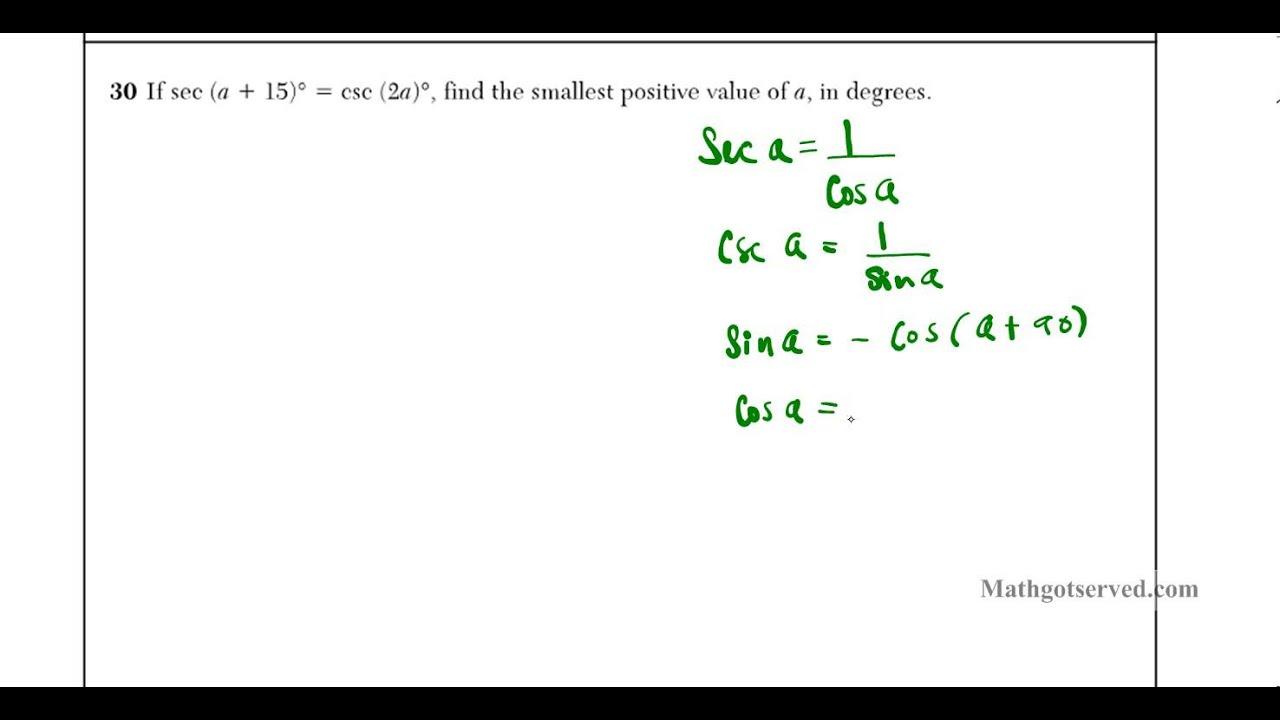 Algebra 2 Trig Regents jan 2013 num 30 algebraic - YouTube