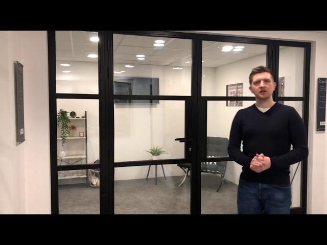 Cherwell Windows showroom tour - Steel look windows and doors