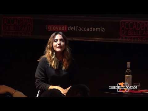 AMBRA ANGIOLINI RICORDA GIANNI BONCOMPAGNI ALL' ACCADEMIA DI BELLE ARTI DI FROSINONE