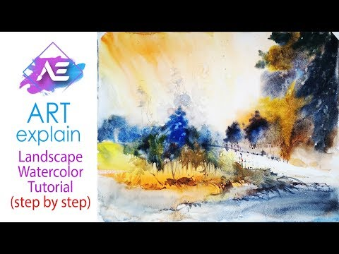 Watercolor Landscape Painting | How to paint Transparent watercolor landscape | Art Explain