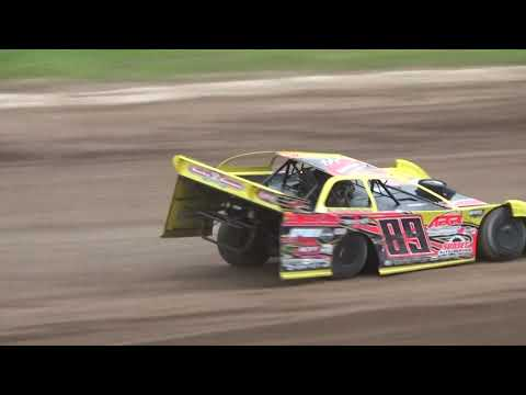 Plymouth Dirt Track Great Racing in Late Model Heat Race June 1 2019