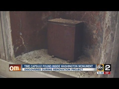 Time capsule found inside Washington Monument