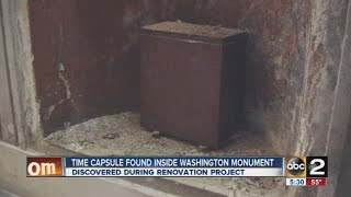 Time capsule found inside Washington Monument