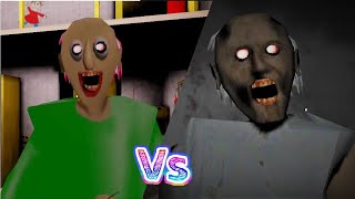Granny vs Baldi's Basics Ganny Horror Game - Mobagameplay