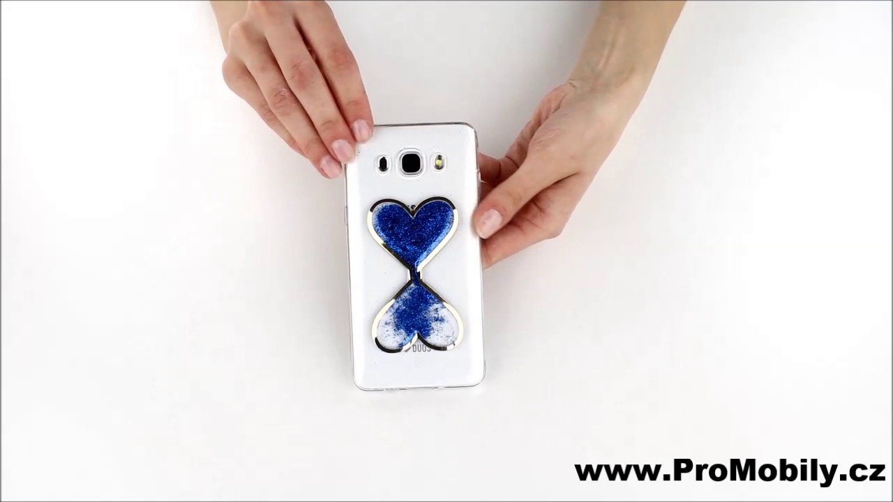 Ukázkové video pro jiný model telefonu - Pouzdro na mobil silikon přesýpací  srdce modré efac232b254