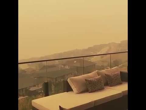 British Columbia Wildfires Blanket the Province in Smoky Orange Haze.