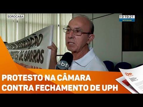Protesto na câmara contra fechamento de UPH - TV SOROCABA/SBT
