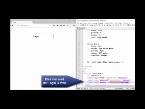 Usersystem (Login + Register) HTML, PHP & CSS (Tutorial) [720p] | Teil 1