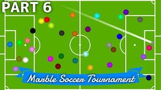 Marble Soccer Tournament: 32 colors - Part 6 (Groups) | Bouncy Marble Video