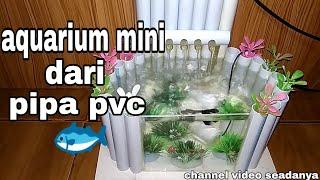 mini aquarium from pvc pipe