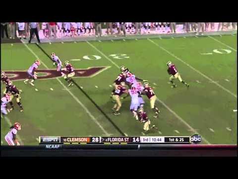 Florida State QB EJ Manuel vs Clemson ᴴᴰ