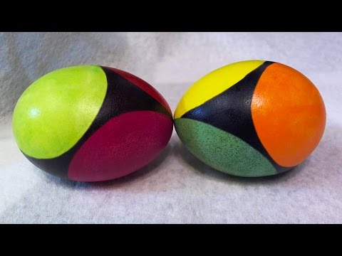 DIY Tutorial Egg Art - How to Create Evenly Spaced Circles on Eggs - Sub Division