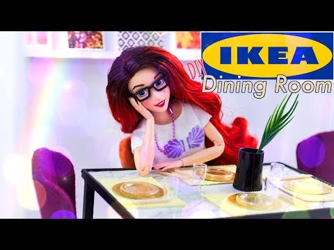 DIY - How to Make: Doll IKEA inspired Dining Room | Table | Chairs & more