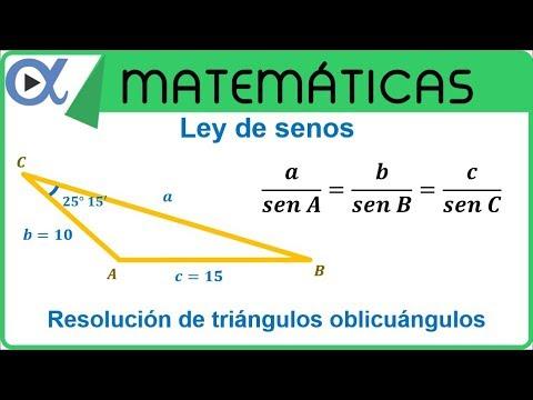 Ley De Senos. Resolución De Triángulos Oblicuángulos Ejemplo 1 | Geometría Y Trigonometría