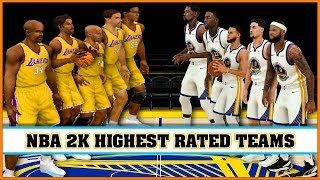 HIGHEST RATED TEAMS in NBA 2K games [NBA 2K - NBA 2K19]