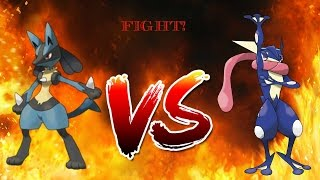 Pokemon Battle 2 | Ash Greninja VS Lucario | ROBLOX }