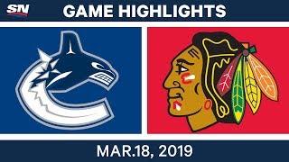 NHL Game Highlights | Canucks vs. Blackhawks - March 18, 2019