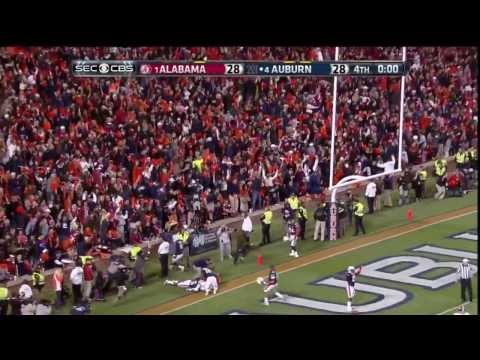Auburn Chris Davis 109 Yard Game Winning Missed Field Goal Return in The Iron Bowl