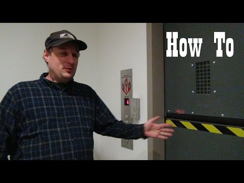 How to operate a freight elevator with motorized doors