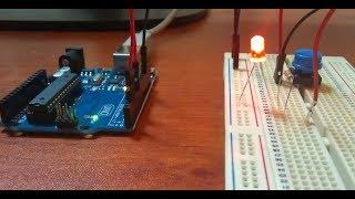 Primer circuito con protoboard y arduino Circuito básico led y pulsador