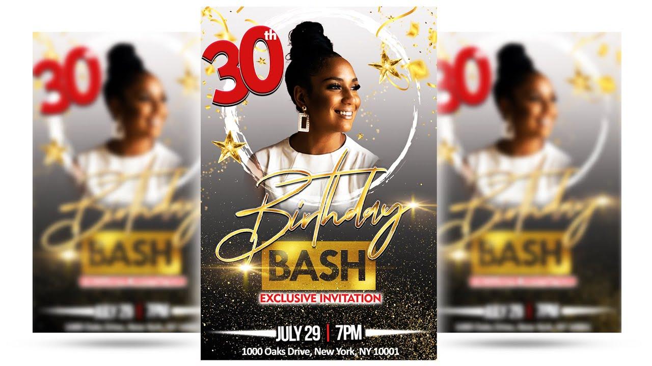 Birthday Flyer Design in Photoshop 2020