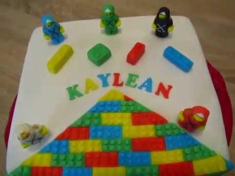 Lego ninjago fondant torte geburtstag youtube for Decorazioni torte ninjago