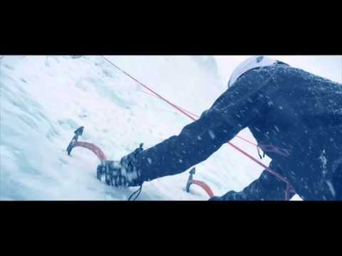 Ice Climbing in Blizzard