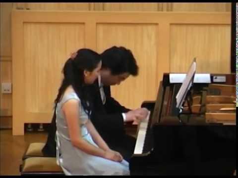 Schubert: Marche Militarie Nr,1 D-dur D.733-1  Miho Morimoto, Narihito Mukeda(Piano) 森本美帆、向田成人(ピアノ)