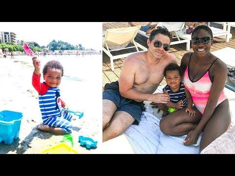 BABY'S FIRST SWIM ON THE BEACH |CROATIA TRAVEL VLOG