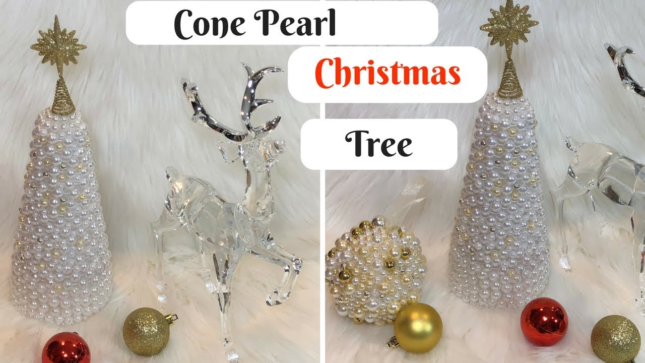 Diy Cone Christmas Trees.Glam Pearl Cone Christmas Tree Diy