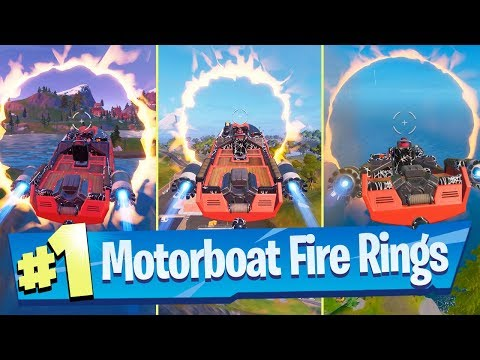 Jump A Motorboat Through Different Flaming Rings
