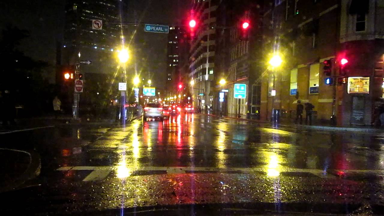 A Night Drive In Boston Ma