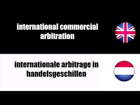 ENGLISH DUTCH   commercial arbitration