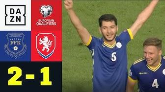 Kosovo schockt Tschechien und ist auf EM-Kurs: Kosovo - Tschechien 2:1 | EM-Quali | DAZN Highlights
