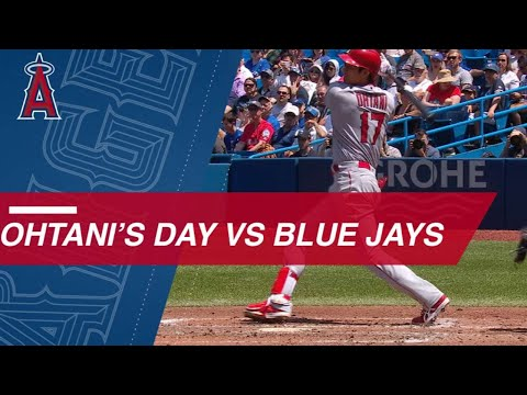 LAA@TOR: Ohtani reaches bases 4 times vs. Blue Jays