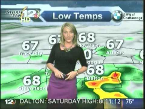 WDEF-12, Chattanooga, TN, June 1, 2013, 11pm newscast, Megan Wise weather  segment