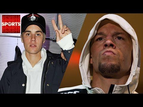 "Nate Diaz Tells Justin Bieber ""Shut Your B*tch A** Up!"""