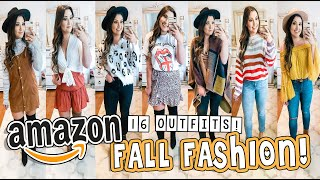 HUGE AMAZON FALL TRY-ON HAUL | 16 OUTFITS & 28 PIECES!