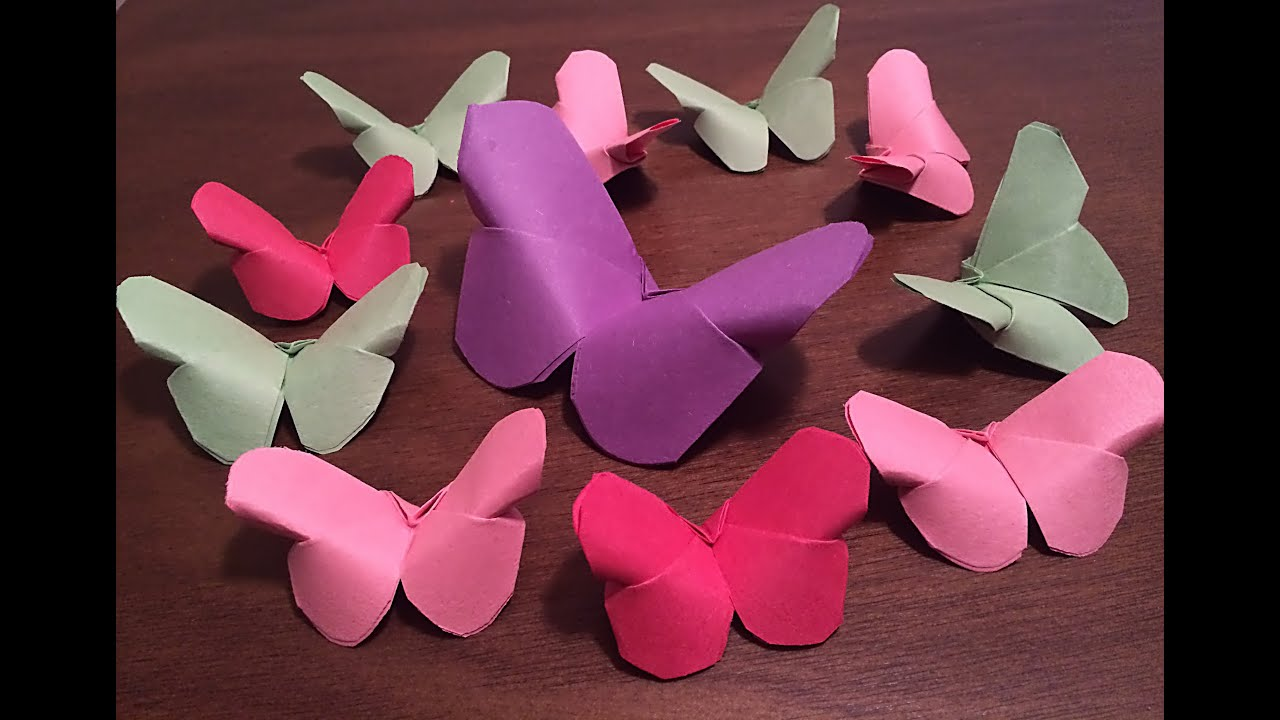 Diy paper butterflies easy paper craft diy crafts youtube solutioingenieria Choice Image