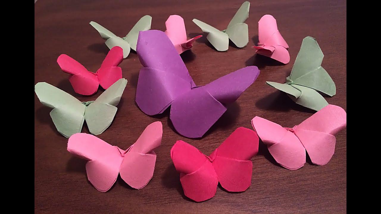 Diy paper butterflies easy paper craft diy crafts youtube solutioingenieria Gallery