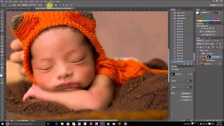 Newborn Skin Retouching with Frequency Seperation