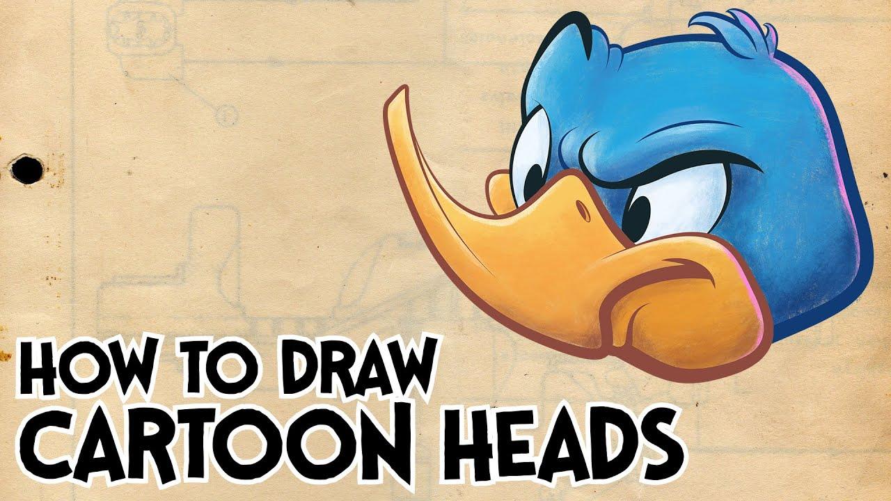 how to draw cartoon heads cartoon construction youtube