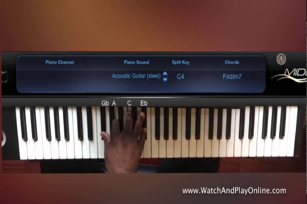 Gospel Diminished Seventh Chord Progression In C Youtube