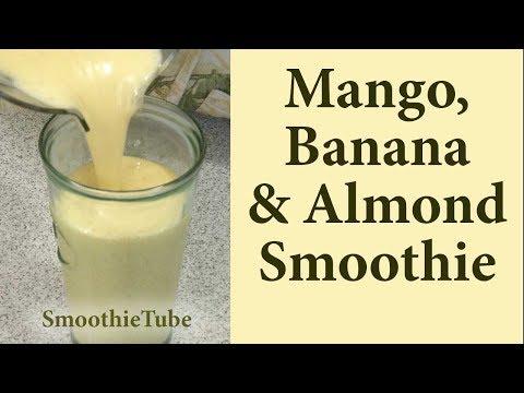 Mango Banana Almond Smoothie