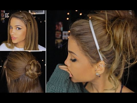 4 Cute Lazy Winter Hairstyles Youtube
